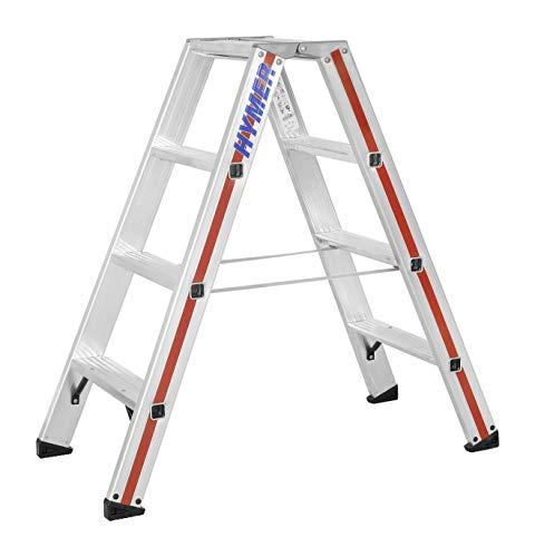Hymer Klapptritt mit 2x4 Stufen (beidseitig begehbar, Standhöhe 45 cm, verstärkte Stufen, Spreizsicherung) 802408