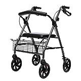 Andadores para discapacidad Andador para Ancianos Bariátrica Médico Ruedas Walker, Ayuda for Caminar con el Carrito y el Asiento