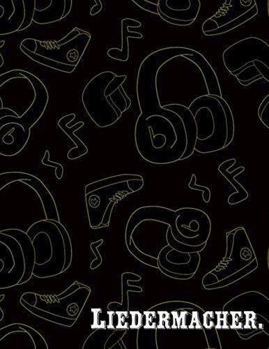 Liedermacher.pdf: Gitarren Tabulatur Block Akkord Buch leeren Gitarre Tabulatoren Notizbuch für Musiker Gitarristen liebhaber Musiklehrerin, Erwachsene Kinder, Größe 8.5 x 11 - 107 Seiten
