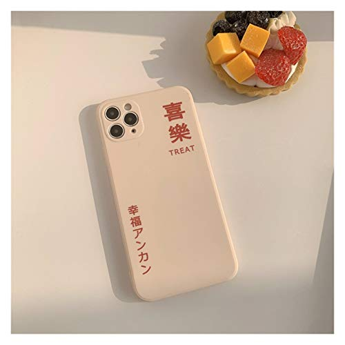 YLFC Funda De Teléfono Japonesa con Diseño De Feliz Arte para iPhone, Funda Suave Y Bonita, para iPhone 12, 11 Pro, MAX, XR, XS, MAX, 7, 8 Plus, 12, Mini, 7Plus (Color : 01, Size : For iPhone XS)