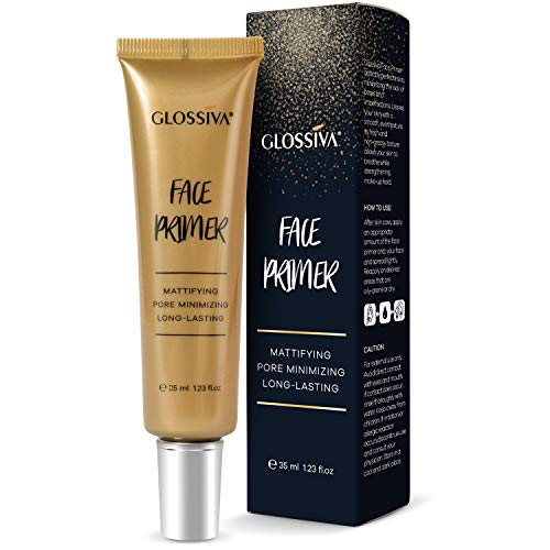 Glossiva Face Primer Makeup - Big Pores Perfect Cover,Skin Flawless and Pore Minimizer- Mattifying, Moisturizing,Invisible Pores 1.23 Fl Oz