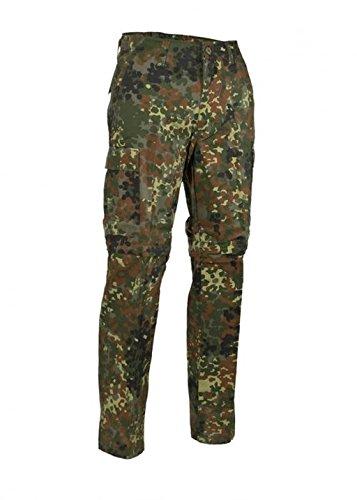 Robuste + Confortable US Style Outdoor Jungle Pantalon Zipp-Off Pantalon de pêcheur avec fermeture à glissière différentes couleurs TP À TTG - Flecktarn, 48
