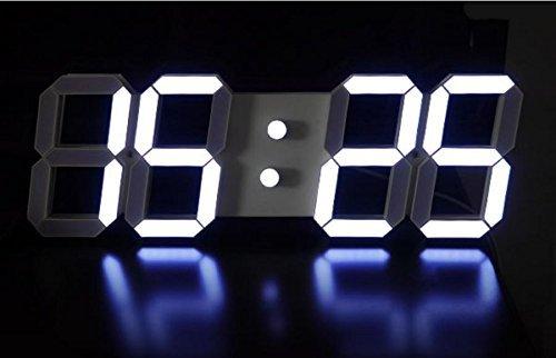 jambroom LED ウォールクロック LEDデジタル時計 壁掛け時計 置き時計 インダストリアル 男前 インテリア 文字盤 大型 クール おしゃれ デザイン 【暗闇で文字だけが浮かび上がる】 ブラック