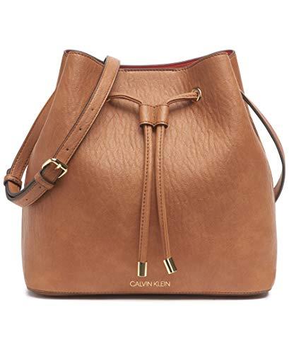 Calvin Klein Gabrianna Novelty Bucket Shoulder Bag, Caramel