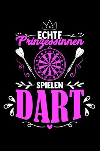 Dart Prinzessin Darten Spruch: Taschenbuch / Notizbuch mit Dart Motiv -in A5 (6x9 Zoll) gepunktet (dot grid)
