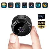 Mini Caméra Espion Cachée WiFi Petite Vidéo HD 1080P Vision Nocturne Détection de Mouvement Sécurité Nanny Cam de Surveillance Caméras Secrètes la Maison Intérieure Extérieure avec Une Carte SD 32G