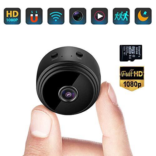 mächtig der welt Minikamera, tragbare kleine Überwachungskamera Full HD 1080P WLAN Micro Nanny Kamera…