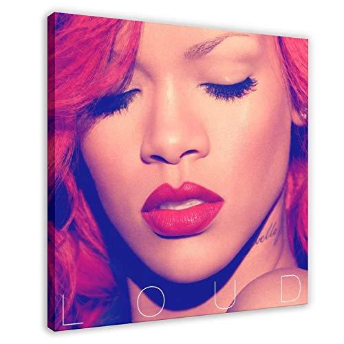 Álbum de la cubierta Rihanna Loud Álbum de lona Póster de pared Decoración de cuadros para sala de estar, dormitorio, marco de decoración de 40 x 40 cm