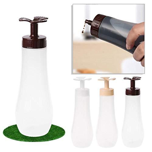 Boner 1Pcs 350ml Doorzichtige Plastic Knijpfles Kruiderij Dispenser Ketchup Mosterdsaus