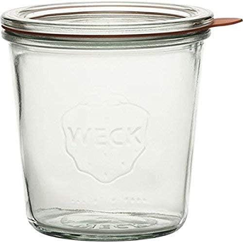 Weck Kt 742802, 4 Bicchieri a bordo rotondo 0,5 l