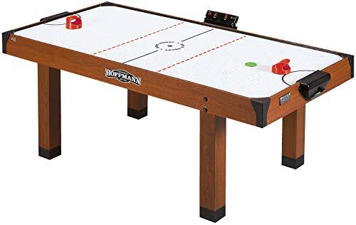 Automaten Hoffmann Airhockey-Tisch mit Luft Gebläse | Airhockeytisch für Kinder, Jugendliche u. Familien | Inkl. Pucks, Griffen u. Zählwerk | 183x91x78 cm | 58 kg | Markenqualität
