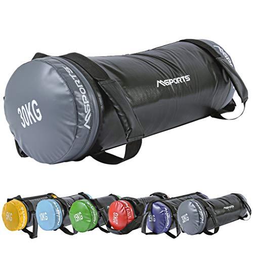 MSPORTS Power Bag Premium 5-30 kg Fitness Bag - Sandsack für Functional Fitness Gewichtssack (30 kg)
