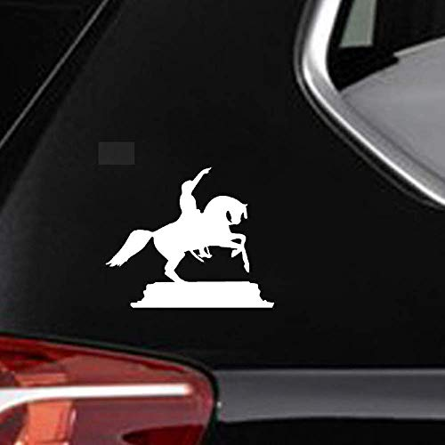16.6Cmx14Cm Interessant Momentous Riding Paard Silhouette Artistiek Sticker Mooie Auto Sticker Koel voor Auto Laptop Window Sticker