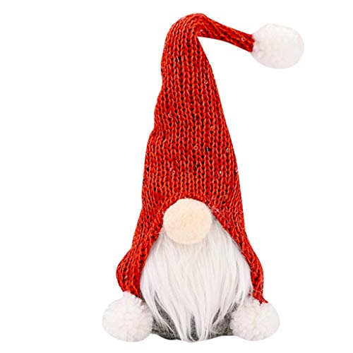 Lipoipo Christmas Tree Ornaments Faceless Doll Hanging Ornaments Thanksgiving Day Gifts Red
