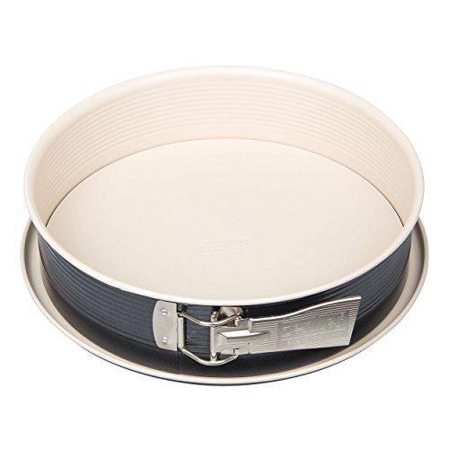 Zenker 7812 Springform Crème Noir mit 1 Boden, Durchmesser 28 cm, Edelstahl, grau / beige, 28 x 28 x 7 cm