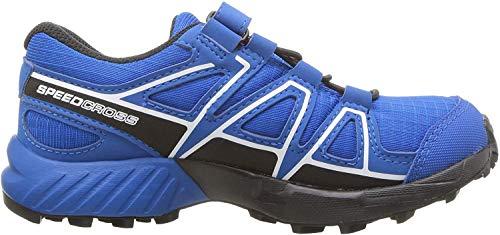Salomon Kinder Trailrunning-Schuhe, SPEEDCROSS CSWP K, Farbe: Blau/Schwarz (Indigo Bunting/Sky Diver/White), Größe: 26