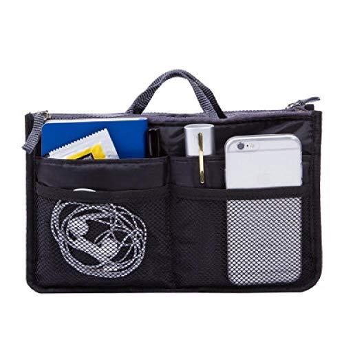 Corée Cosmetic Bag_Korea Travel Cosmetic Bag Sac À Main Multifunctional Bag Travel Nylon Wholesale Custom, Black, Large