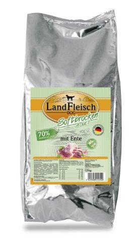 Landfleisch Dog Softbrocken Adult mit Ente, 1er Pack (1 x 1.5 kg)