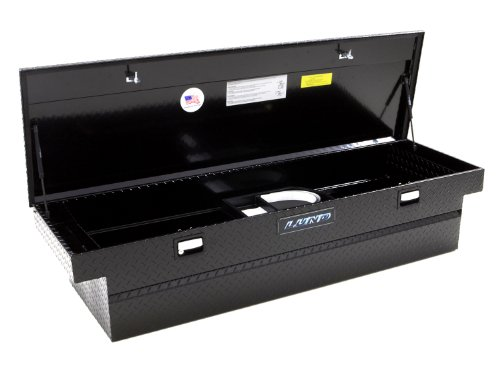 Lund 79304 63-Inch Mid-Size Aluminum Cross Bed Truck Tool Box with Low Profile, Diamond Plated, Black