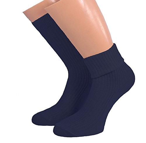 Shimasocks Kinder Socken mit Umschlag 100prozent Baumwolle, Farben alle:marine, Größe:23/26