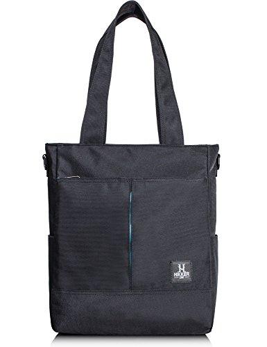 H HIKKER-LINK Mens Laptop Shoulder Bag Convertible Messenger Tote Business Briefcase 15' Black