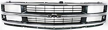 Garage-Pro Grille Assembly Compatible with CHEVROLET EXPRESS VAN 1996-2002 Chrome Shell/Painted-Gray Insert with Composite Headlight Base/LS Models