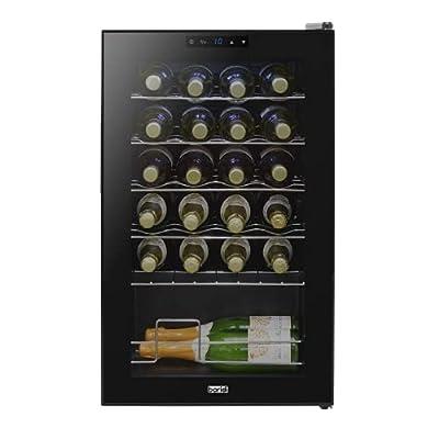 Baridi 24 Bottle Wine Fridge with Digital Touch Screen Controls & LED Light, Black - DH9 by Dellonda