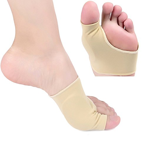 Bunion Corrector Bunion Relief Sleeves Bunion Pads Brace Cushions Toe Straightener with Gel Toe Separator, Spacer, Straightener and Spreader, Hallux Valgus Relief Big Toe Alignment