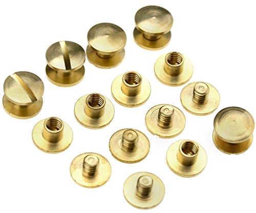 Flachkopfnieten, 10Sets 4/6/8mm x 4,5mm, für Gürtel, Taschen usw., 4 mm
