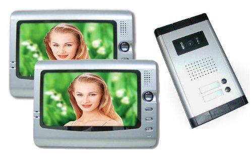 Videocitofono a colori con doppio monitor LCD da 7' - Mod. Silver