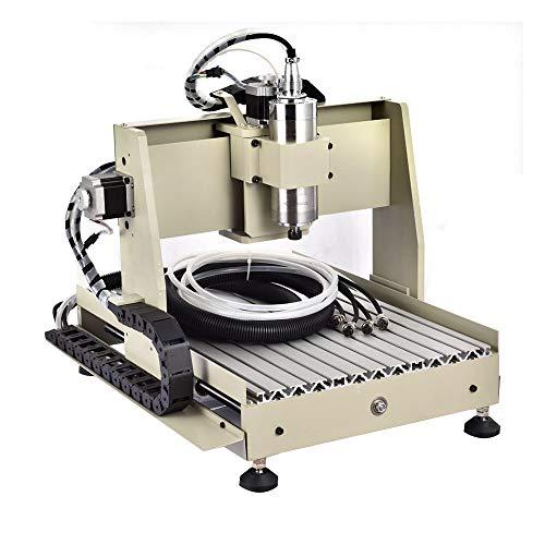 4 Axis 3040 CNC Router Engraver Engraving Perforación Fresadoras 800w Máquina de grabado spindlemotor, rango de trabajo: 400 (Y) x 295 (X) x 80 (Z) mm