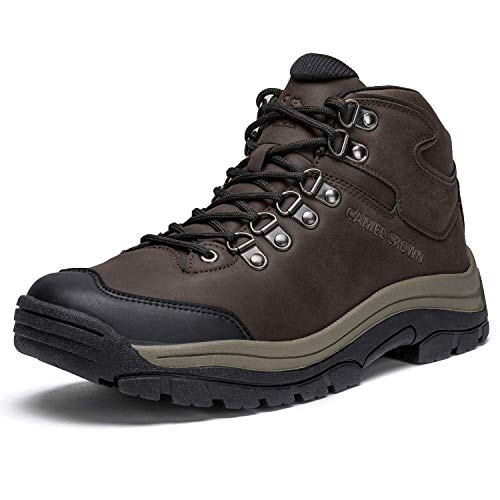 CAMEL CROWN Zapatos de Senderismo para Hombres Botas de Trekking Antideslizantes Zapatos Cómodos y Transpirables para Exteriores Botas de Montaña Escalada Calzado Viajes Trabajo Deportes