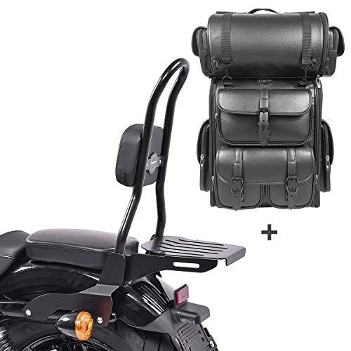 Respaldo CSL Fix + Bolsa Trasera LX para Harley Sportster 04-20