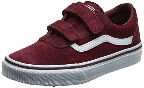 Vans Ward V-Velcro, Zapatillas de Deporte Hombre, Rojo (Suede/Canvas, Port Royale/White U1a), 37 EU