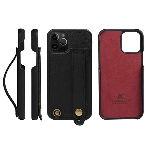 [HANATORA] iPhone12/iPhone12 Pro ケース Handy ハードケース PUレザー 落下防止 耐衝撃 スタンド機能 ハ...