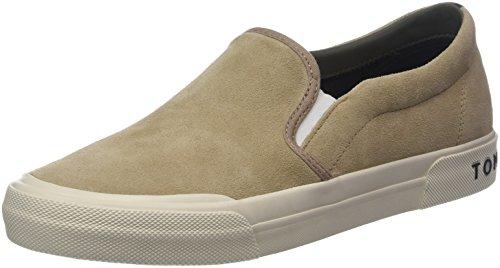 Tommy Hilfiger Heritage Suede Slip On Sneaker, Zapatillas para Hombre, Beige (Sand 102), 41 EU