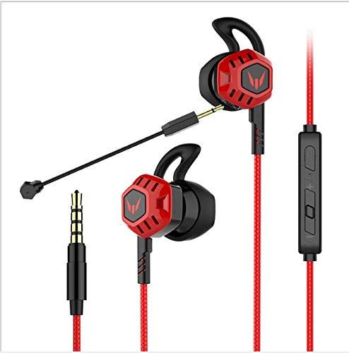 In Ear Kopfhörer mit Mikrofon, Welltop Wired Gaming Kopfhörer mit Mikrofon, In-Ear Ohrhörer mit Lautstärkeregler für Xbox One, Mac, Nintendo Switch, Mobile, PS4 und PS5