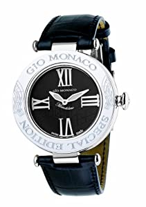 Gio Monaco Women's 777A-F Mandolino Black Dial Musical Leather Diamond Watch Review and Order Now!! and review image