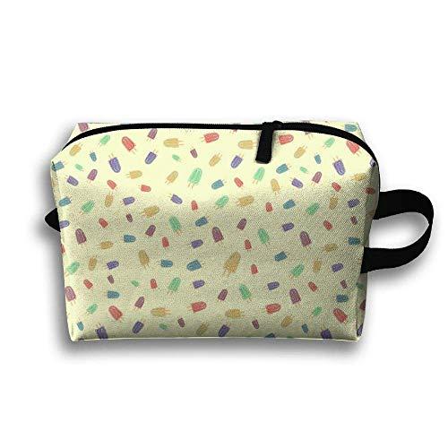 Eis am Stiel-Muster-tragbare Reise-Make-uptasche, Aufbewahrungstasche-tragbare Damen-Reise-Quadrat-Kosmetiktasche