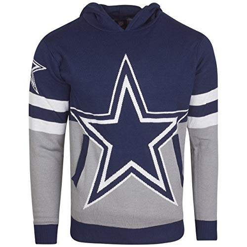 Forever Collectibles NFL Ugly Hoody Sweater Pullover Christmas Dallas Cowboys Big Logo Weihnachtspullover (XXL)