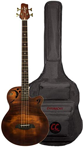 Sawtooth Rudy Sarzo Signature Acoustic-Electric Bass Guitar, Includes Padded Gig Bag