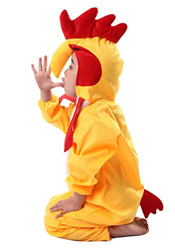 Happy cherry - Pijamas Disfraz Cosplay Animal para Niños Niñas Infantil Ropa de Dormir de Cartoon del Gallo en 3D para Carnaval Halloween Navidad Amarillo - Talla 160cm/ES 11-12 Años