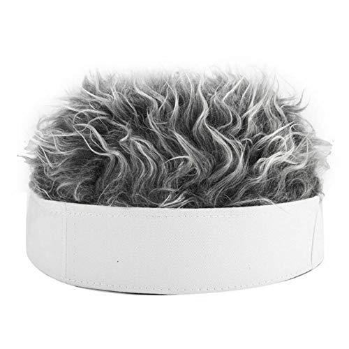 Henreal mannen vrouwen noviteit muts hoed korte pruik kap grappig unisex retro beanie hoed warme outdoor cap