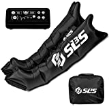SLS3 Compression Recovery Boots | Leg Sleeves Relax Massager Sports System | Sequential Air Massage Therapy for Improved Circulation and Workout Recovery | German Designed (Medium)
