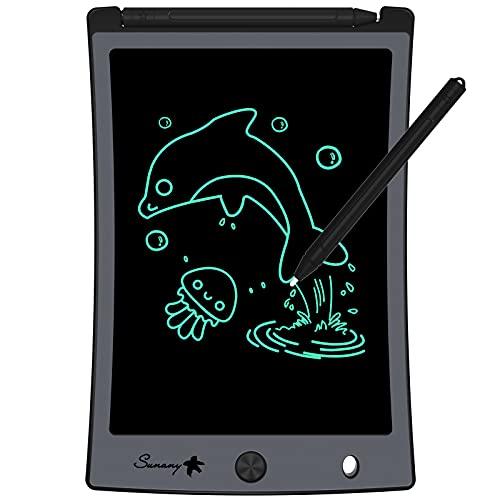 Sunany Tavoletta Grafica LCD Scrittura 8.5 Pollici,LCD Writing Tablet,Lavagna da Disegno Portatile Digitale con Pulsante di Blocco, Regali per Bambini e Adulti (Nero)