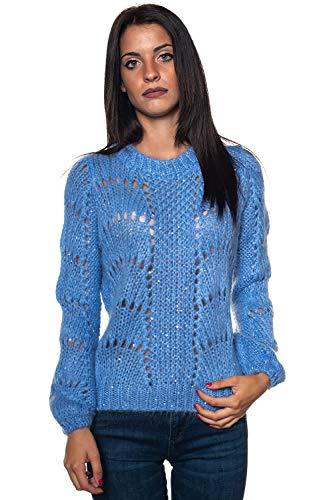 Guess W84R0A Z2720 Maglie E Pullover Donna Celeste XS