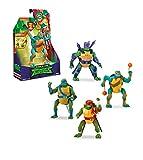 Ninja Turtles WAVE 1-4 Tortugas Ninja, Figuras Deluxe, 4 modelos diferentes, multicolor (Famosa TUAB2511), surtido: modelos aleatorios