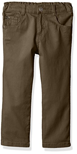 Wrangler Authentics Boys' Slim Straight Twill Pant, thistle 14