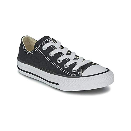 Converse All Star Low Black/White Kids Shoes 3J235 Sneakers, 3 Little Kid