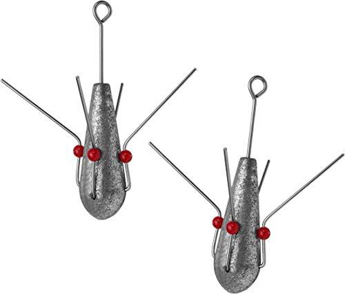 Storfisk fishing & more 2-4 Brandungsgewichte mit Krallen zum Angeln in der Brandung, Gewichte:125 Gramm